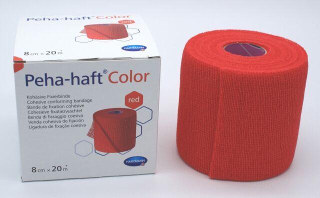 Peha-haft latexfrei rot 8cmx20m kohäsive elastische Fixierbinde selbsthaftend