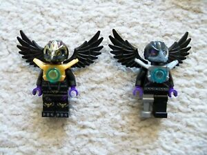 LEGO-Chima-Rare-Lot-of-2-Chima-Minifigs-w-Wings-Excellent