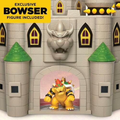 Bowser Deluxe Castle Playset Super Mario Boules de Feu Caché pièges Action Figure