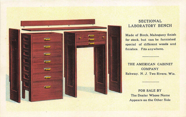 Rahway NJ American Cabinet Co. Laboratory Bench Linen Curt ...