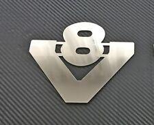 Scania Camion Acciaio Inox Lucido V8 Emblema Cromo Accessori Adesivo Stemma