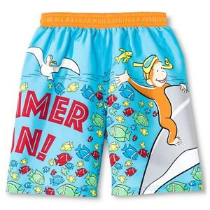 NEW with tags infant boys CURIOUS GEORGE swim trunks 12,18 or 24month