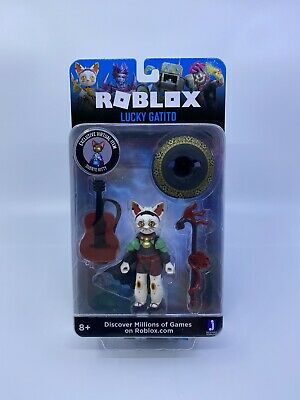 Roblox Lucky Gatito Figure Exclusive Virtual Item Super Kitty New