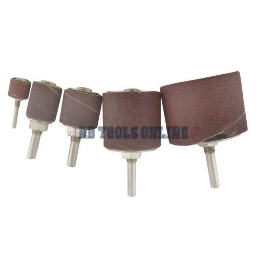 Grain 80 tambour de ponçage rotary kit en cas de broche sander 13 19 25 38 50mm SIL326