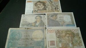 World-Old-Bank-notes-France-Scarce-currency-225-FRANCS-1939-1943-1947-1951-81