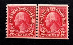 US-Stamps-Scott-599-JLP-2c-1923-XF-M-NH-Beautiful-sound-and-PO-fresh