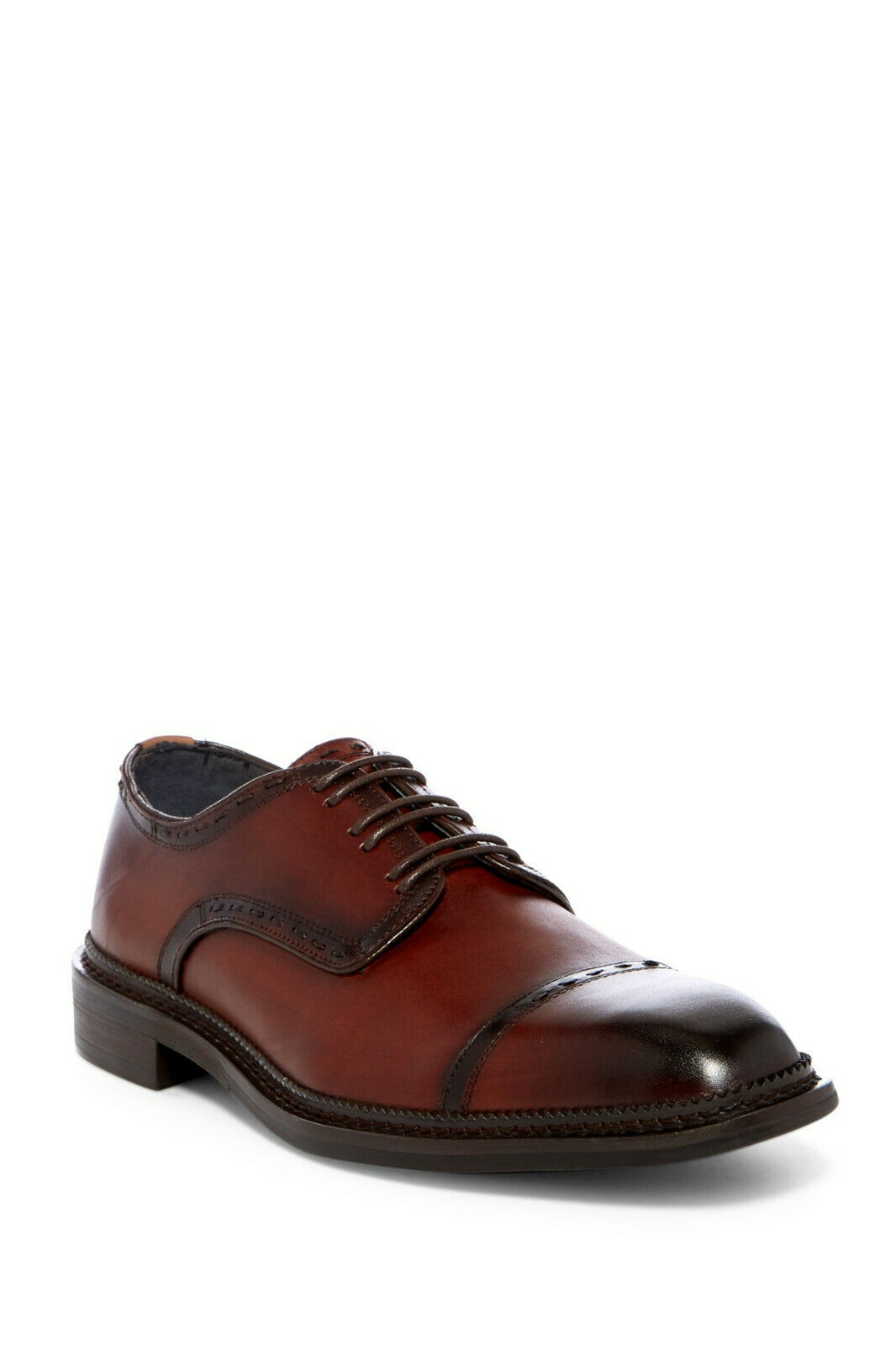 Vintage Foundry Heritage Cap Toe Leather Derby, Topstitched, Size 10,  330, NWB