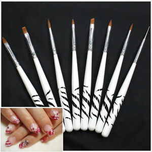 8pcsset 3d Painting Drawing Uv Gel Diy Nail Art Brush Pen Salon