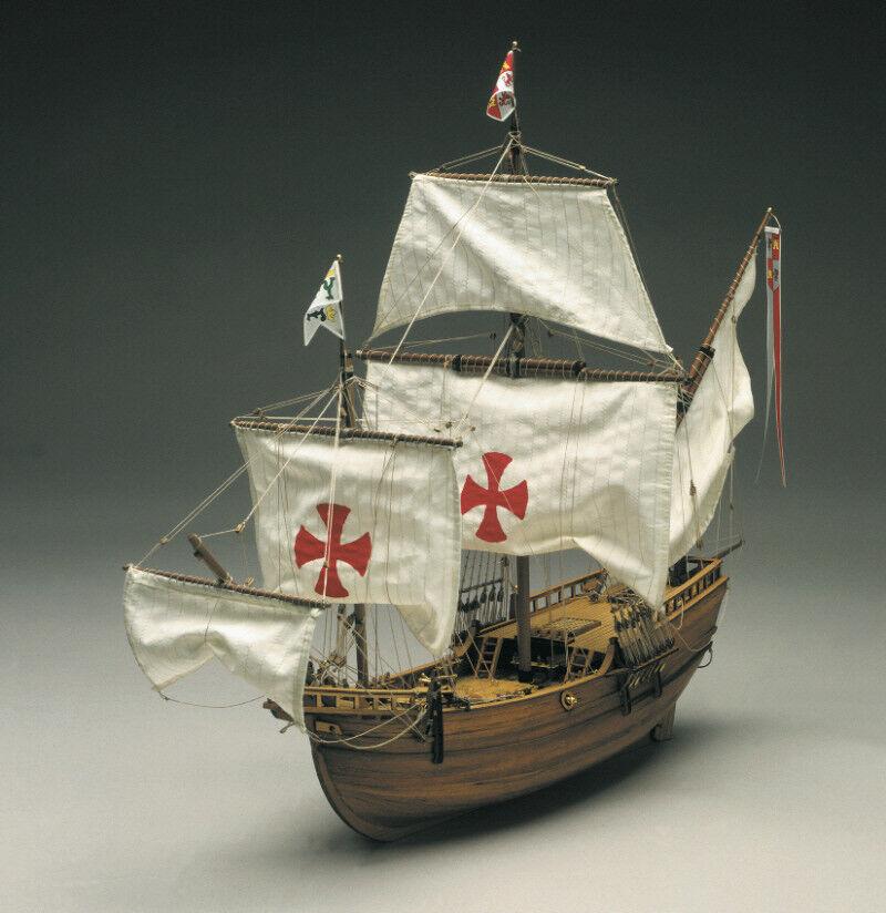 Mantua Models Pinta Caravel of Columbus Wooden Ship Kit 1 50 Scale