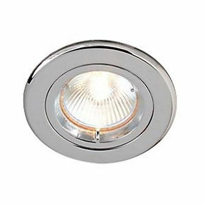 Brushed Chrome Low Voltage Downlight with Transformer and 50w Halogen Bulb