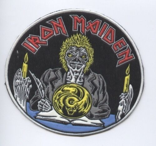 Iron Maiden Round synthetic 3D patch early 80/'s RARE