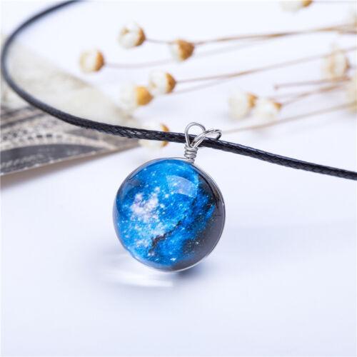 Fashion Necklaces Gorgeous Stars Glass Galaxy Pattern Pendant Women Jewelry Gift