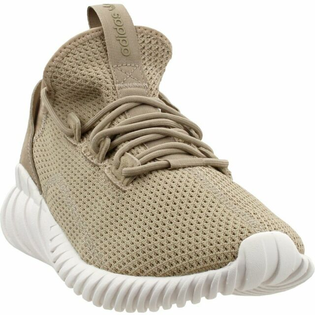 new arrival f29f7 aa391 adidas Tubular Doom Sock Primeknit Mens By3562 Trace Khaki White Shoes Size  11