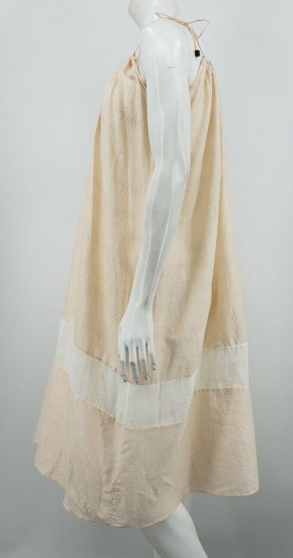 Pondicherie Sita Tie Dress One Size Blush Silk Or… - image 5