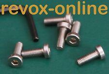 1 Set (6 PEZZI) IN ACCIAIO INOX-Viti per la band piatti della REVOX b77, calotta