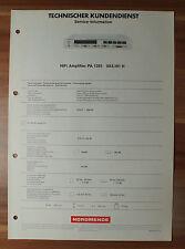 HiFi-Amplifier PA1351 983.161H  Nordmende Service Manual Serviceanleitung