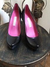 Buffalo black smart platform court shoes UK 3