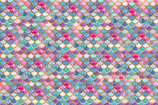 Pink Blue Gold Mermaid Htv Heat Transfer Vinyl Scale Pattern Shirt Sheet 18 X 12