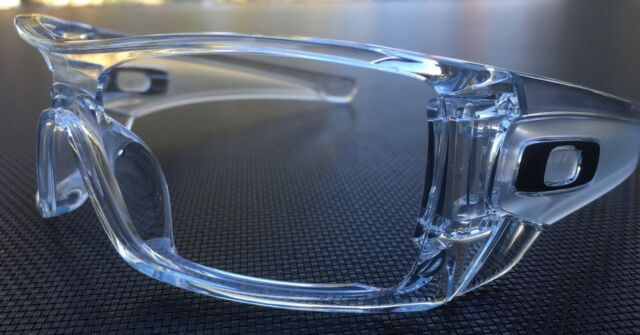 Oakley Batwolf    POLISHED  CLEAR frame w / SILVER  icons