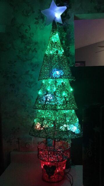 Mickey Mouse Christmas Tree.New 3 8 Disney Mickey Mouse Christmas Tree Sculpture Multicolor Led Lighted