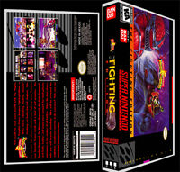 Power Rangers Fighting Edition - Snes Reproduction Art Case/box No Game.
