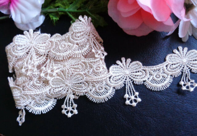 1  inch wide embroidered  lace trim   selling by the yard