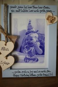 Image Is Loading Personalised Photo Frame By Filly Folly Baby 1st