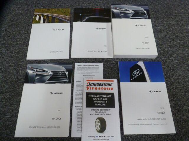 2017 Lexus Nx 200t Owner Operator Manual User Guide Set 2 Manual Guide