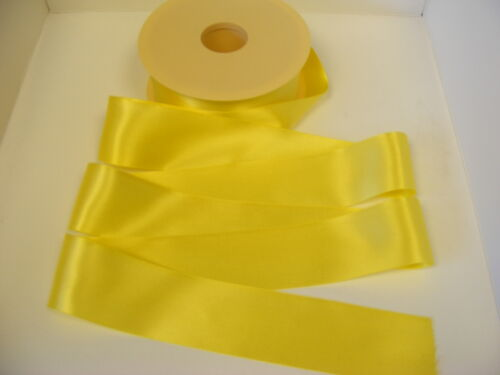 3 metres of YELLOW double satin ribbon in various widths 679