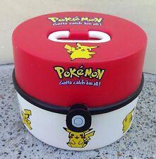 Vintage Pokemon Round Bento Lunch Box 1999 Nintendo