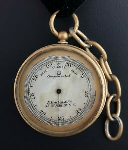 Antique-pocket-barometer-Darton-and-Co