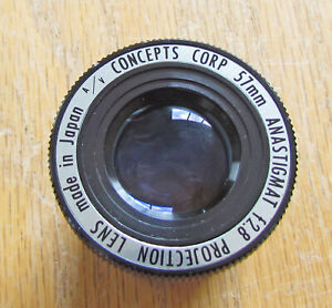 A-V-Concepts-Projector-Lens-57mm-f2-8-Made-in-Japan-Anastigmat-Projection