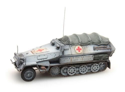 Neu 1//87 // H0 Sdkfz 251//8B Artitec 387.73-Wa Sanitätspanzer Fertigmodell