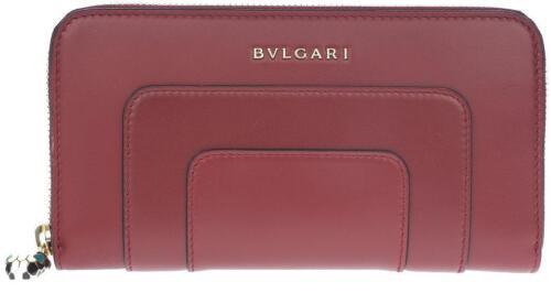 Ruby Continental Bvlgari Wallet lange rond Wine rit clutch Serpenti Nieuwe Bulgari I6f7mYgbyv