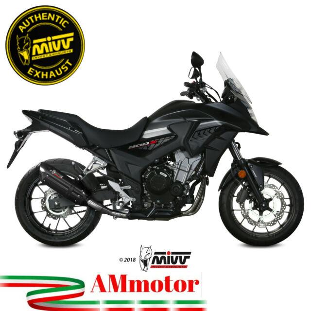 Mivv Honda Cb 500 X 2019 Pot D' Echappement Moto Silencieux Suono Black Approuvè