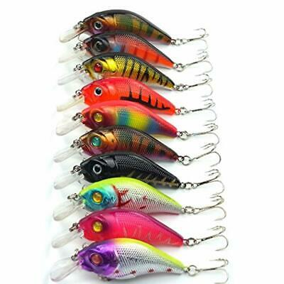 5 Pcs Crank Fishing Lures Baits Striped Bass 9.5cm//11.2g Crankbaits Lures Hooks