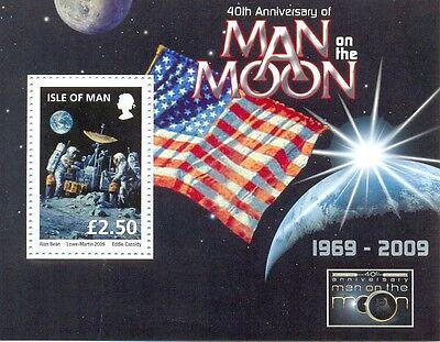 Isle of Man -OVERPRINT on Moon Landing min sheet(mnh-2009)