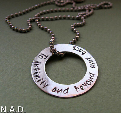 Mens Washer Necklace. Personalized Mens Gift. Custom Engraved Pendant for Men