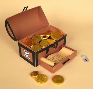 a4 card making templates for 3d flower treasure chest display by