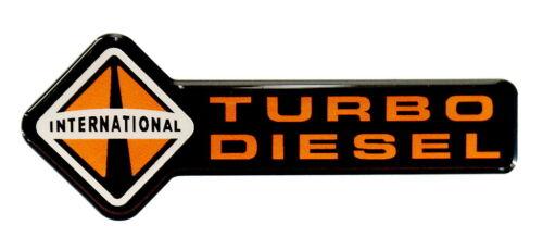 INTERNATIONAL TURBO DIESEL EMBLEM BLACK SATIN