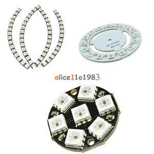 7-Bit 8-bit 12-bit 16-bit 24-bit 60-bit WS2812 5050 RGB Lamp Panel Round LED