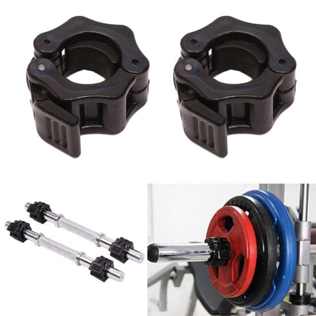 CB28 2pcs 25mm Lock Jaw Collars Barbell Clamp Bar Lockjaw Weight Lifting Crossfi