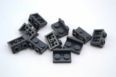Lego Lot of 100 New Dark Bluish Gray Brackets 1 x 2-1 x 2 Inverted Pieces