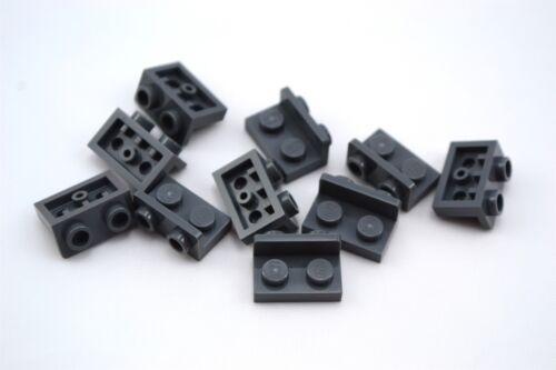 Lego 1x2-1x2 Inverted Bracket Plate Dark Bluish Gray Lot of 10 New