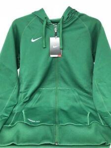 8a60d0ea5629 Nike Women s Therma-Fit Full Zip Poly Fleece Hoodie Green White 100 ...