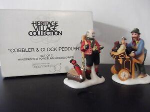 Dept 56~Heritage//Dickens Village~COBBLER /& CLOCK PEDDLER~58394