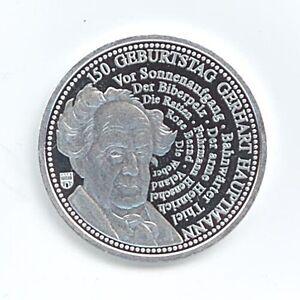 Medaille-150-Geb-Gerhart-Hauptmann-Praegestaetten-2012-32-mm-9-Gr-A15-107