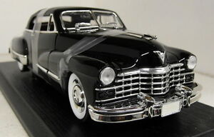 Anson-1-18-Scale-30345-1947-Cadillac-Series-62-Convertible-Blk-Diecast-model-car