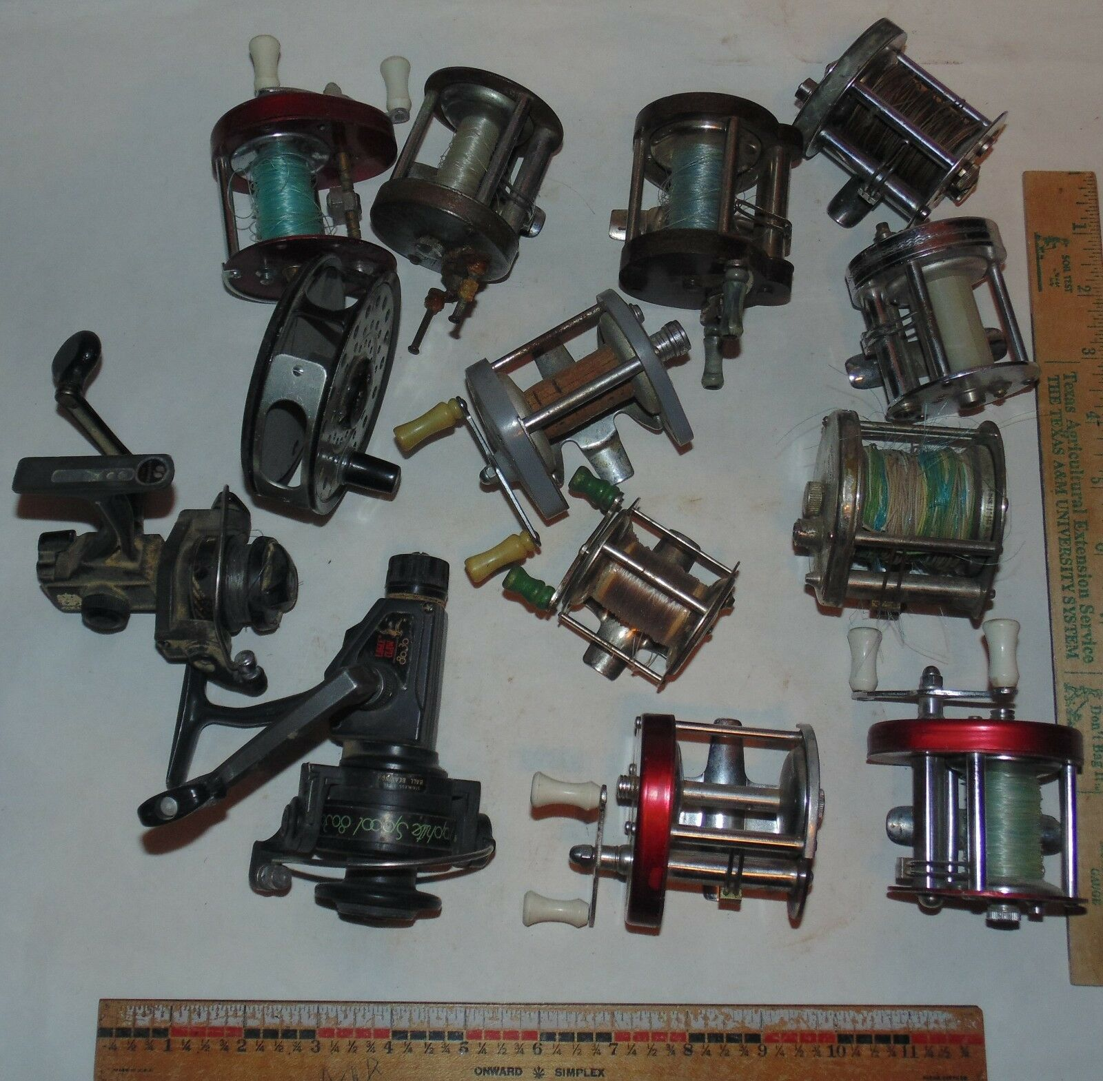 13 - Variety Fishing -  casting Reels For parts or Repair