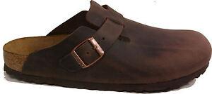 BIRKENSTOCK-0860131-BOSTON-HABANNA-Brown-leather-REGULAR-footbed-NEW